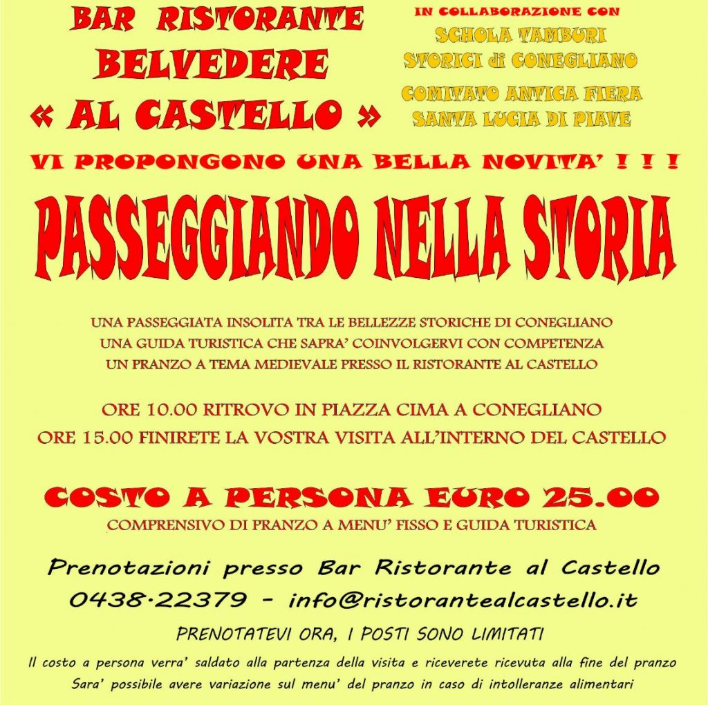 Passeggiando nella Storia - 1 maggio 2019 - Ristorante Al Castello