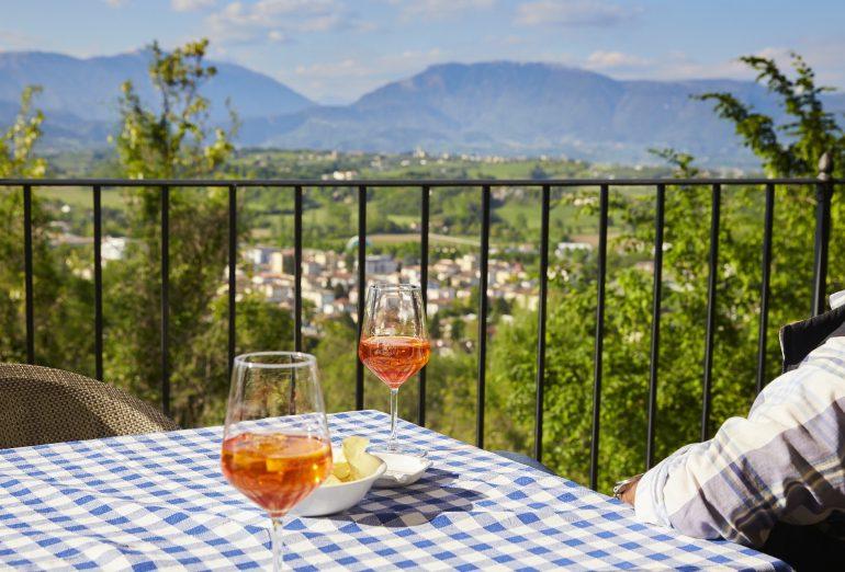 aperitivo al Castello di Conegliano